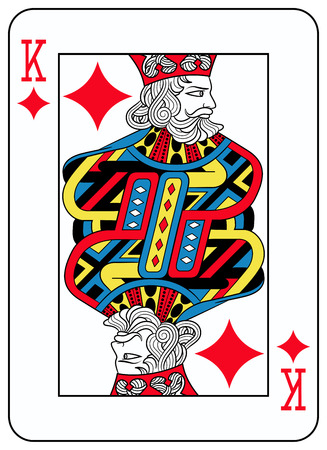 seraphic: King of diamonds playingcard inspired by french tradition