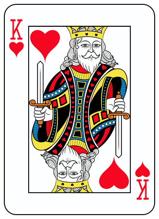 seraphic: King of hearts playingcard inspired by french tradition