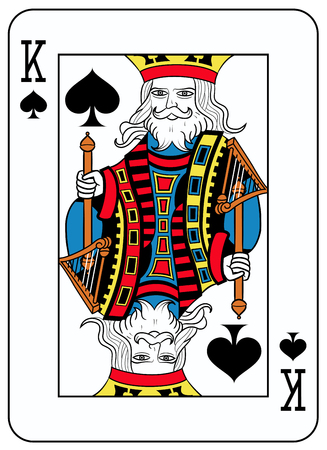 seraphic: King of spades playingcard inspired by french tradition