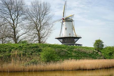 netherlands: Windmill at Veere  Netherlands Stock Photo