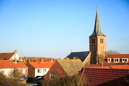 netherlands: View on Domburg  Netherlands Stock Photo