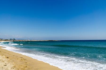 montjuic: Beautiful Beach at Barcelona  Spain