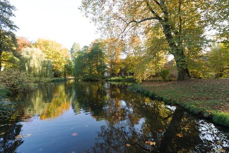 reflection: Water Reflection at Krefeld Park  Germany