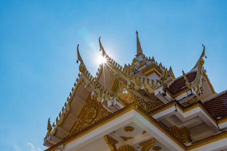 Apex of temple with blue sky on koh samui Thailand Zdjęcie Seryjne