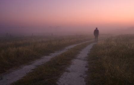 mystery man: Pink sunrise