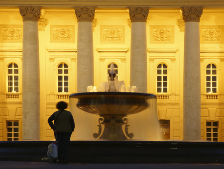 bove: In front of the Big Theatre in Moscow