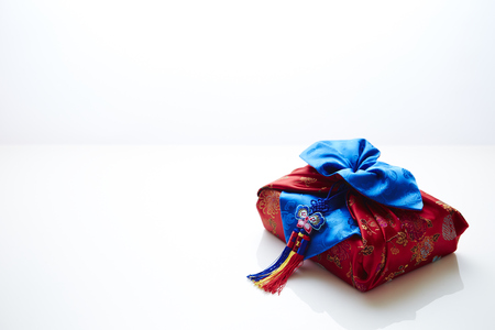 traditional gifts: Korean traditional wrapping cloth Stock Photo