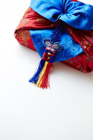 bordados: tela de envoltura tradicional coreana
