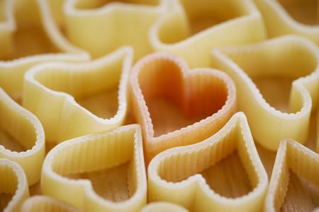 macarrones: macarrones forma de corazón Foto de archivo