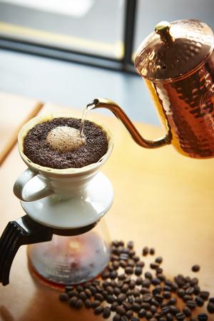Hand drip coffee Stock Photo