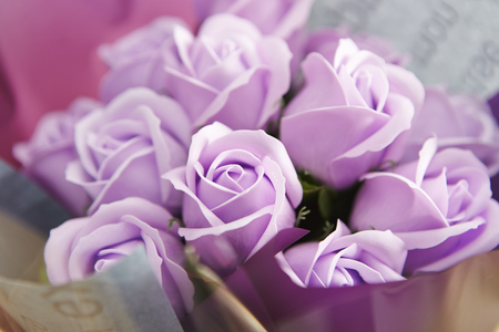 counterfeit: Artificial rose bouquet Stock Photo