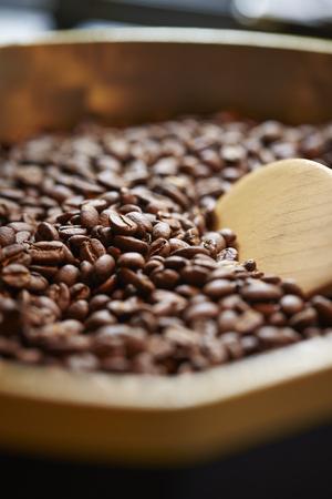 roasting: Roasting coffee beans Stock Photo