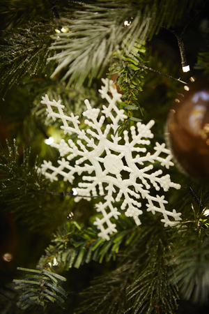 decorate: Christmas tree ornament Stock Photo