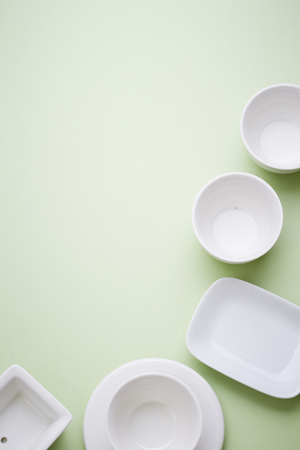 tableware: White tableware