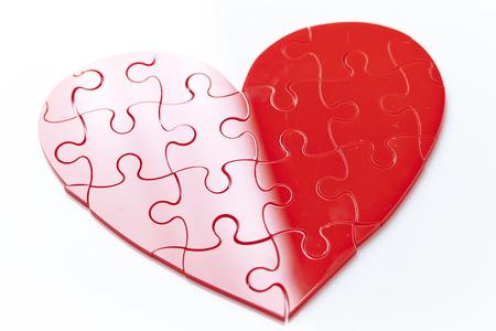 Heart jigsaw puzzle