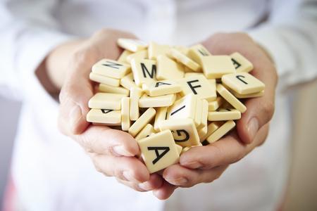 Word tiles Stock Photo