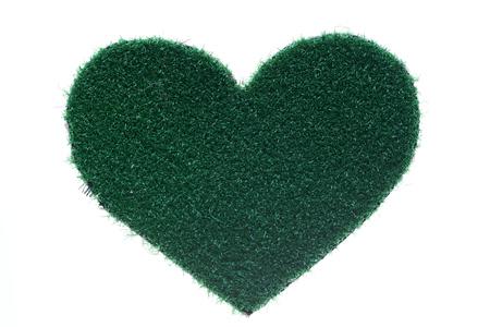 forme: forme de coeur herbe Banque d'images