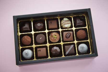 assort: Box of chocolates Stock Photo