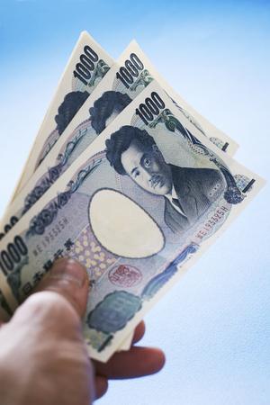 Japanese yen banknote Stock Photo