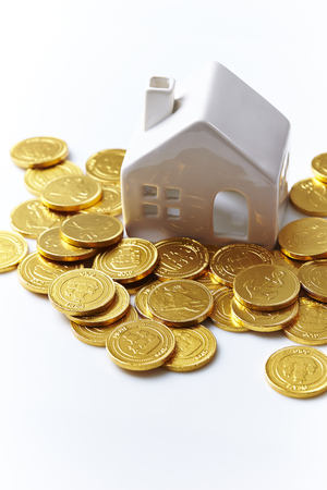 House model with coins