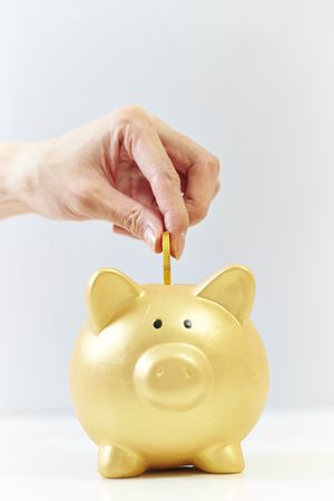 withdrawal: Piggy bank Stock Photo