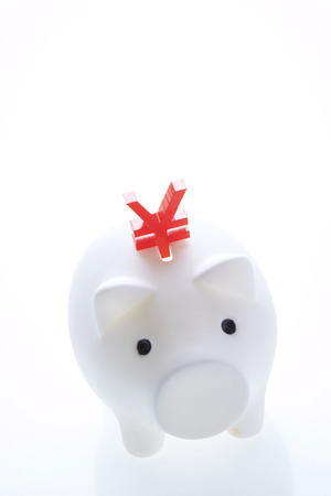 Piggy bank with currency symbol