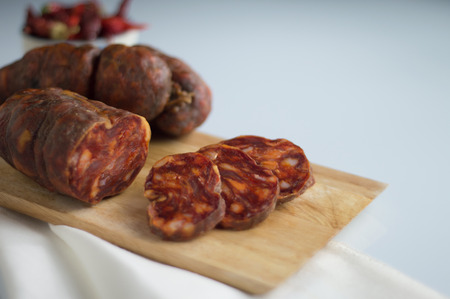 soppressata typical Italian salami of calabria Reklamní fotografie
