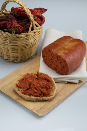 nduja, Italian salami typical of Calabria, spreadable salami Reklamní fotografie