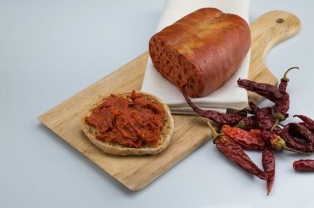 nduja chilli and bruschetta Reklamní fotografie