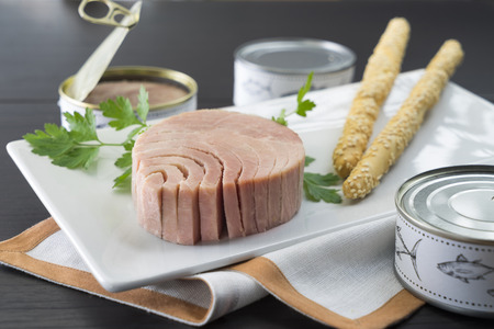 nice dish of canned tuna