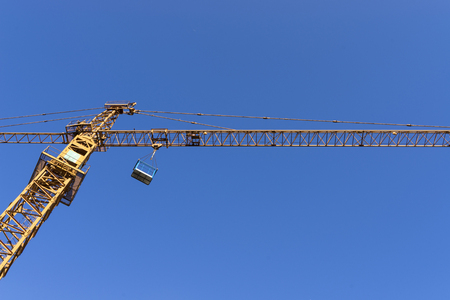 tower crane and blue sky