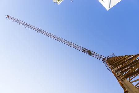 tower crane perspective Reklamní fotografie