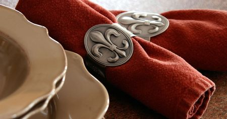 Nationalism in the kitchen courtesy of napkin rings. Stock Photo - 2651084