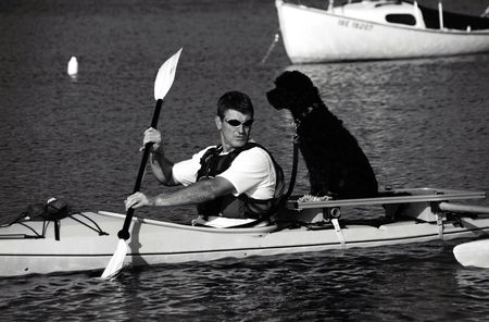 Special rig makes kayaking with the dog safe and enjoyable. photo
