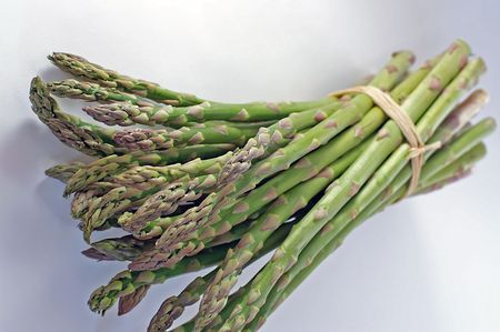 diuretic: Asparagus fresh from the farm Stock Photo