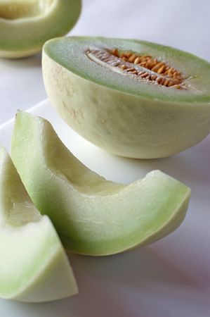 Honeydew melons are cousins to pumkins and gourds and have been cultivated since Egyptian times.