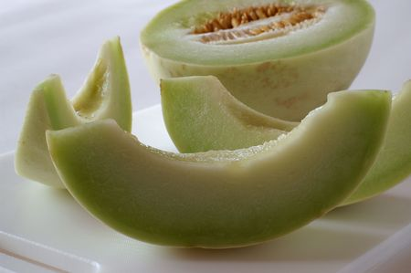 The Honeydew Melon belongs to the same group of plants as cucumbers, pumkins and gourds. Cultivated since Egyptian times, melons remain a delicious and cooling treat on a hot day.