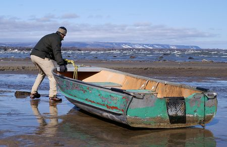 ashore: Beachcomber finds a boat washed ashore after a spring storm hits Georgian Bay