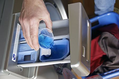 conserve: High Efficiency washing machines conserve water, detergent and energy.