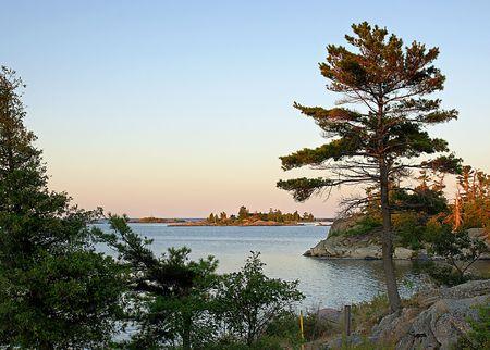 Island landscapes of Georgian Bay, Ontario