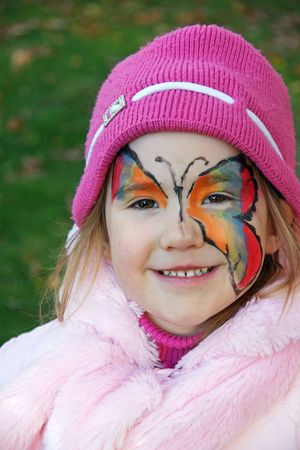 Butterfly Face Painting photo