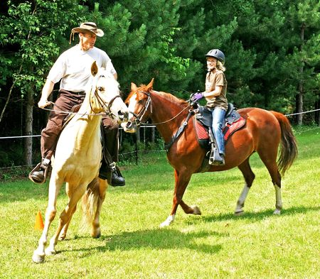 Horseback Riders having Fun photo