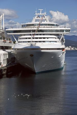 Cruise Liner in Port photo