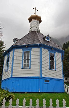 cedar shakes: Iglesia Ortodoxa de San Nicol�s, Alaska