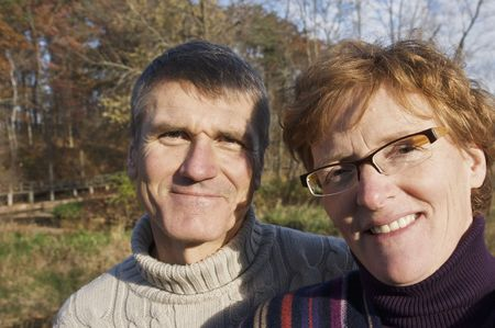 Baby Boomer Couple Outdoors photo