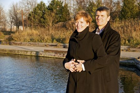 baby boomer: Baby Boomer Couple Outdoors