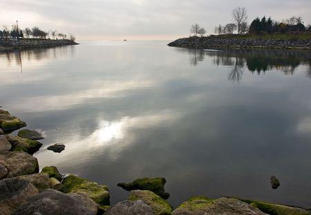 cape mode: Waterfront Park entlang der Ufer des Lake Ontario in Mississauga.