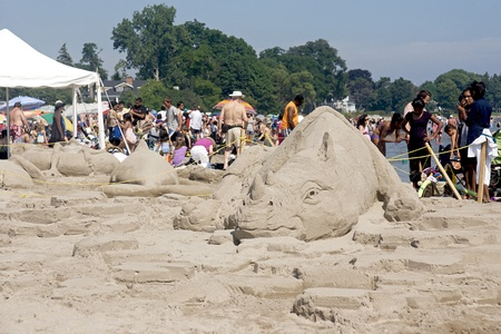 Cobourg Sandcastle Festival at Cobourg Beach, Ontario - July 31, 2011