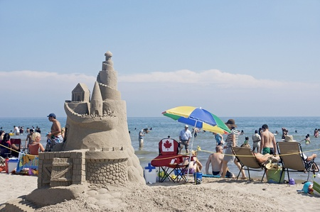 Cobourg Sandcastle Festival at Cobourg Beach, Ontario - July 31, 2011 Editorial