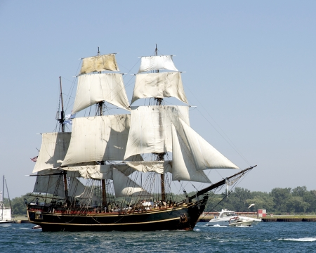 bounty: October 29, 2012 - Tall Ship HMS Bounty lost at sea in Hurricane Sandy - shown here sailing out of Toronto Harbour in August of 2010